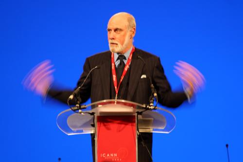 Vint Cerf on stage