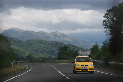 Driving alongside Loch Lomond